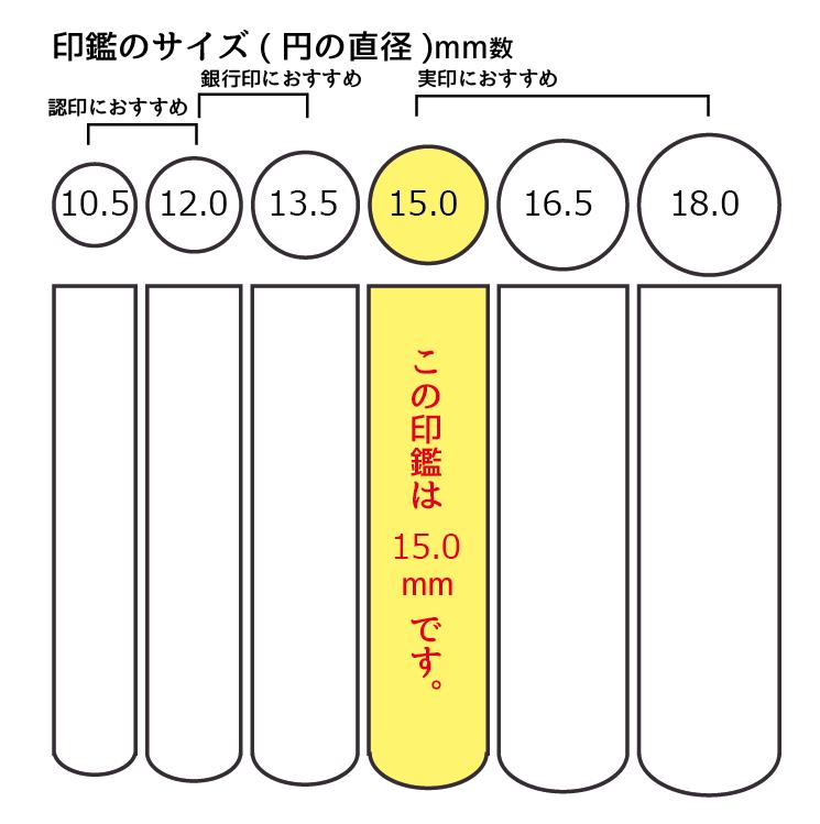 15mmの印鑑サイズ